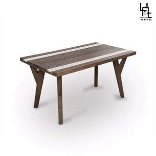 【多瓦娜】 LIVA 原始工業風5尺餐桌 D05-150