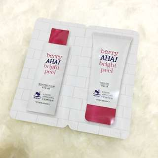 Trial package  / sample size Etude house berry aha! bright peel