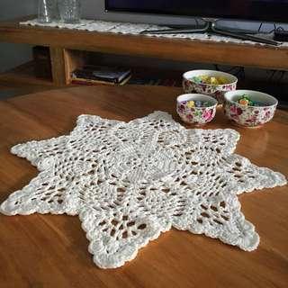 Handmade Crochet Star Doiley