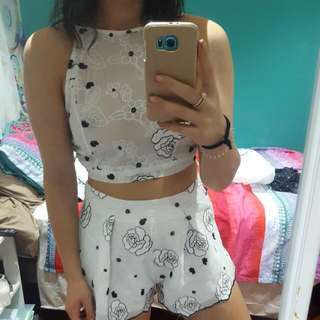 White Two Piece Set NEGOTIABLE