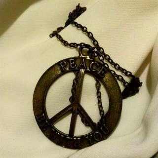 🚚 銅色Peace個性項鍊