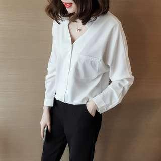 R112  韓版鉤花蕾絲拼接寬鬆荷葉邊袖T恤上衣