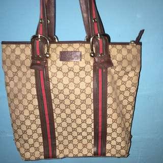 auth Gucci tote bag