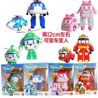 Robocar Police Transforming Poli, Helly, Amber And Roy