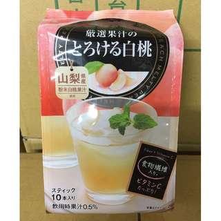 日東紅茶 白桃飲料 白桃果汁 沖泡式飲品 日本原裝 10入