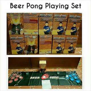Beer Pong Playing Set