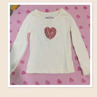 Red Heart Top For Girls