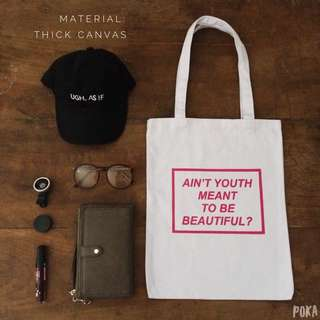 Tote Bag / Shopping Bag / Tas Totte Kanvas Canvas Tebal Kode: TB02