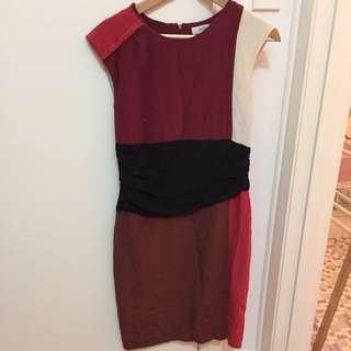 Country Road gathered waist Silk Dress