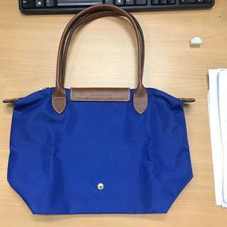 Longchamp Le Pliagr Medium Long Handle 1899 Tote Bag- Blue
