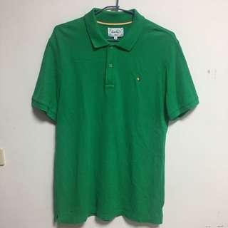 🚚 正版Arnold Palmer 雨傘牌 綠色素面短袖POLO衫48號