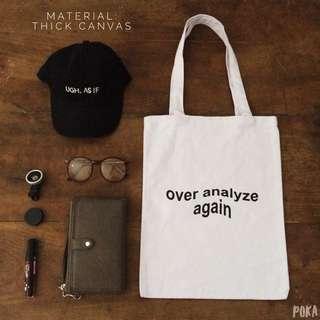 Tote Bag / Shopping Bag / Tas Totte Kanvas Canvas Tebal Kode: TB04