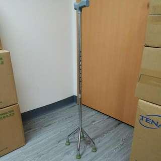 鋁合金4腳拐杖(9段伸縮)扶手最高可達97cm