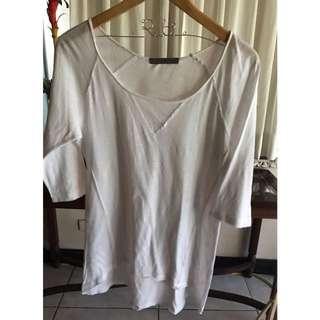 Maldita White 3/4 Sleeve Top