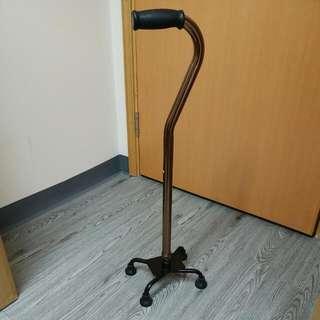 鋁合金4腳拐杖(10段伸縮)扶手最高可達96cm