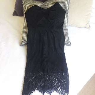 Hello Molly Sexy Black Lace Dress