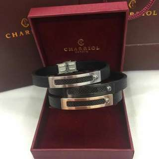 New Arrival!!! Charriol Leather Bracelet with box and paperbag 1,100