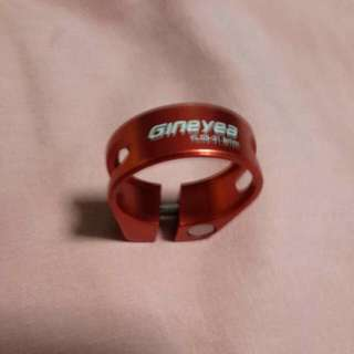 Gineyea seatpost clamp anodized red