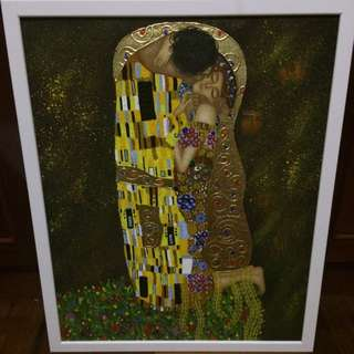 The Kiss Klimt Inspired Painting