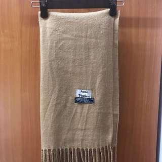 溫暖毛料駝色圍巾