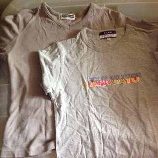 Original Giordano Long Sleeves (L) And Lapagayo Shirt (L)