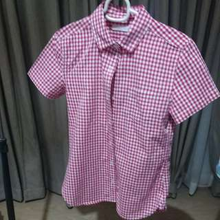 Cotton Red Gingham Shirt