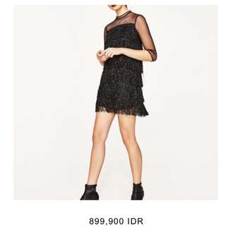 Fringed Black Zara Dress