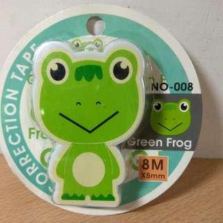 🚚 [Ericaca 愛挖寶] Q版綠蛙修正帶,全新未使用喔~💖