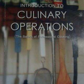 Introduction To Culinary Operation