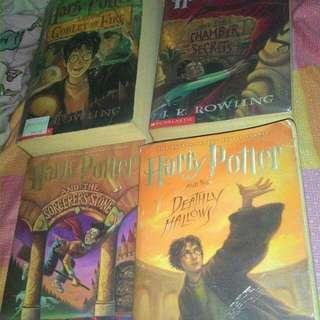 Harry Potter Books  1,2,4,7