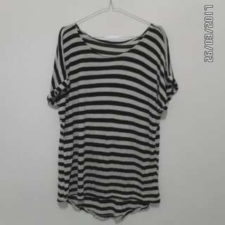 Stripe Black White Shirt