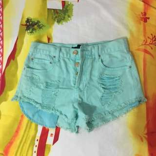 Forever21 Mint High Waisted Shorts