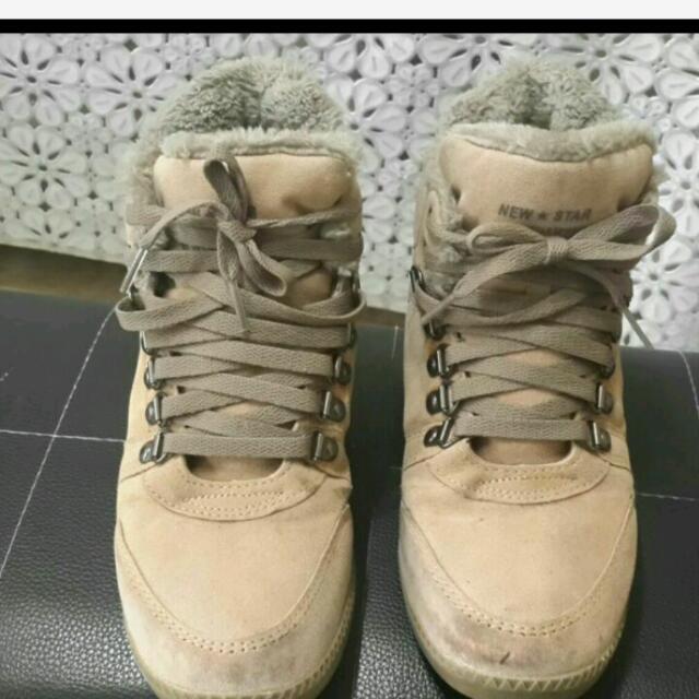 韓版鋪毛增高鞋