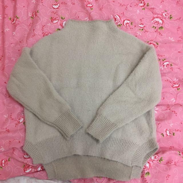 小立領針織毛衣
