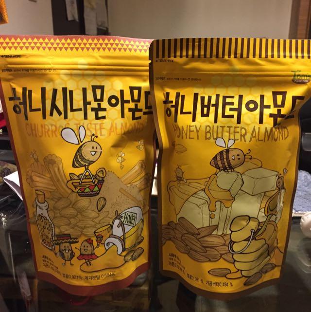 [正韓]蜂蜜奶油杏仁堅果(可分售)
