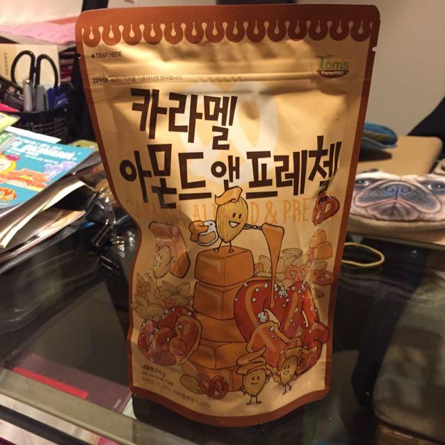 [正韓]焦糖杏仁果+蝴蝶餅