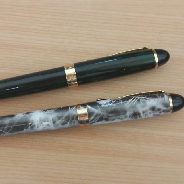 全新 兩隻一起 金豪直尖鋼筆