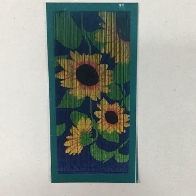 🌻 Bamboo Doorway Curtain - Sunflowers
