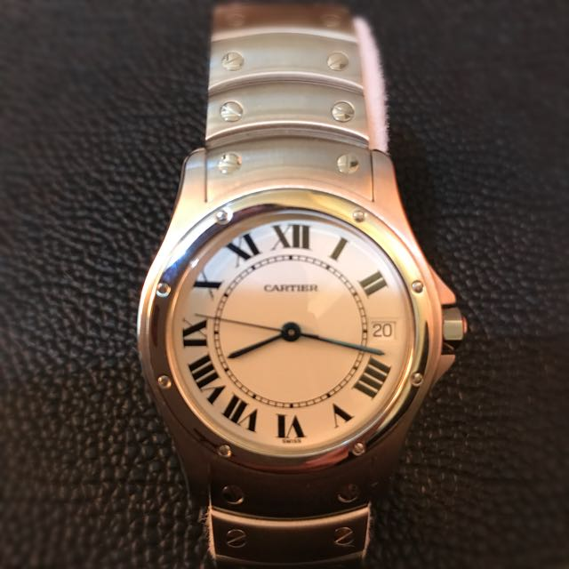 卡地亞機械錶 Cartier santos ronde 1920 stainless steel automatic 33mm watch