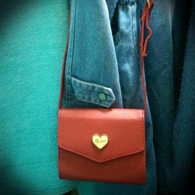 艾杜紗 ettusais 紅色小包包