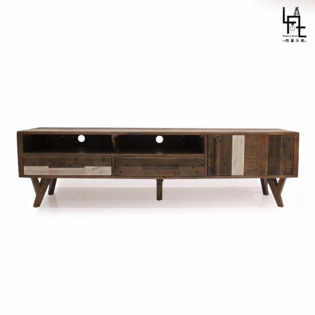 【多瓦娜】 LIVA 原始工業風七尺電視櫃 L01-200