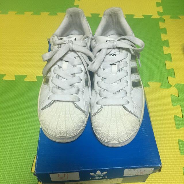 Adidas 奶油頭貝殼鞋 24cm