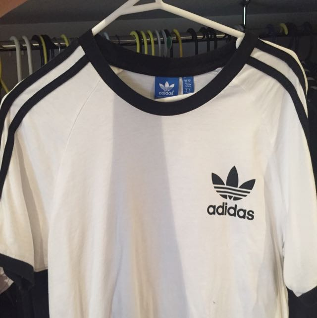 Adidas Black And White Tee