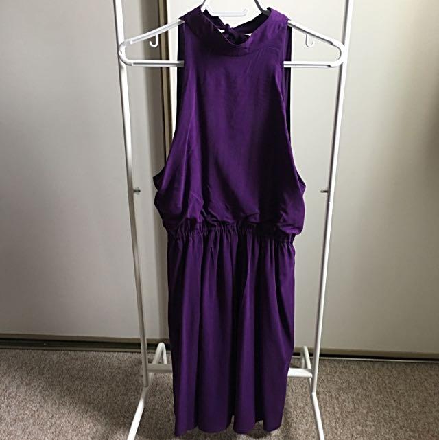 Alice and Olivia Purple Cocktail Dress (XS)