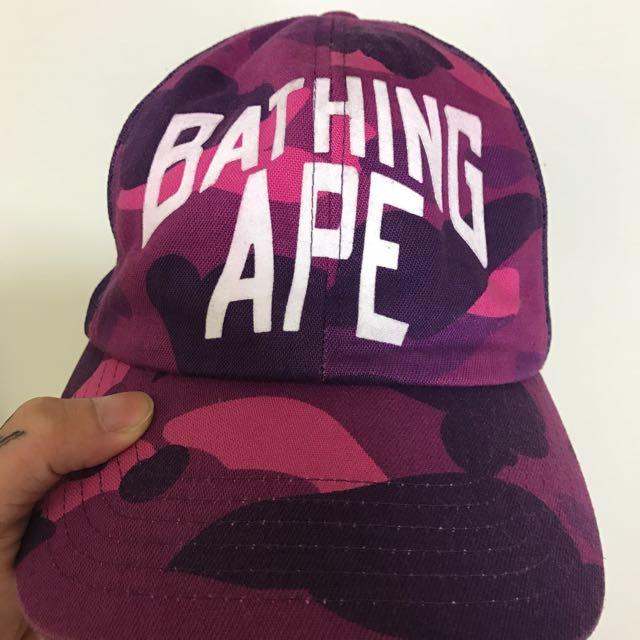 Bape紫狼網帽