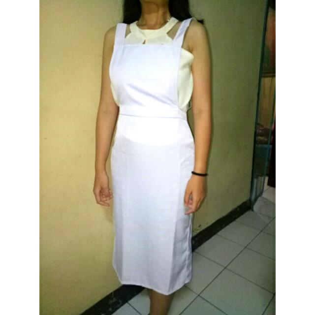 OverAll Dress (white)