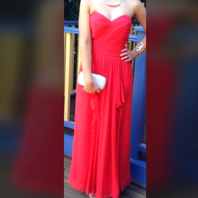 Be Seduced Luxe Red Strapless Formal Dress