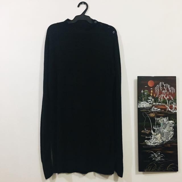 BKK Long Sleeve Knit Dress (Black)