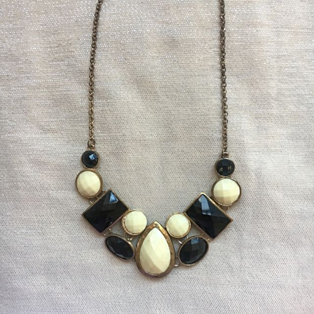 Black & White Statement Necklace