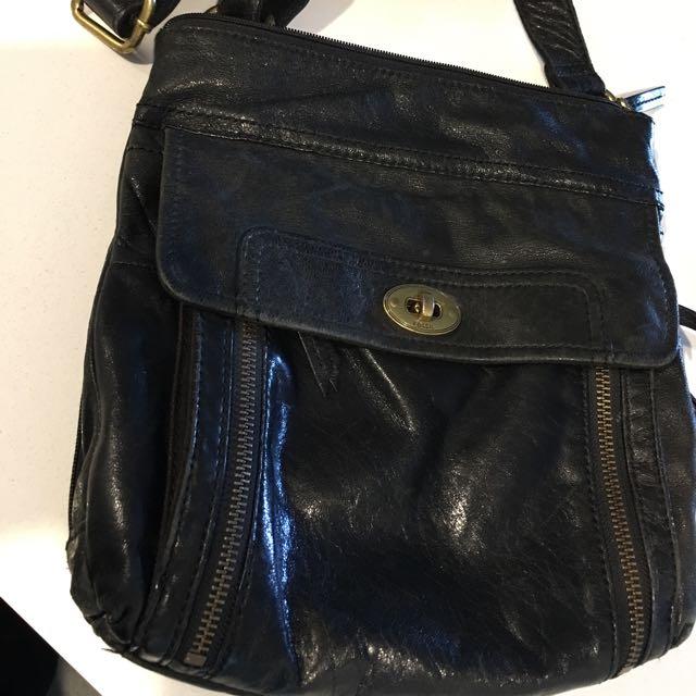 Black Fossil Bag